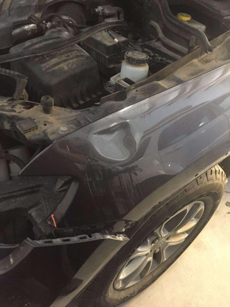 before-quick-car-body-hood-dent-repair-asheville