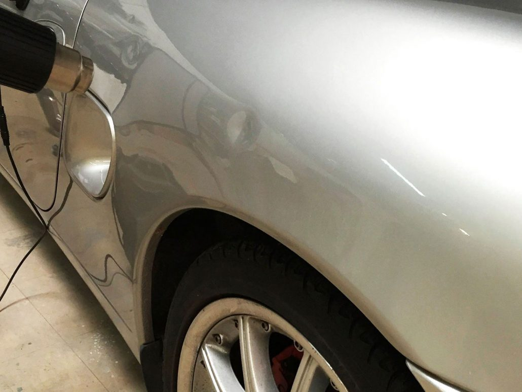 before-silver-car-dent-repair-car-damage-asheville